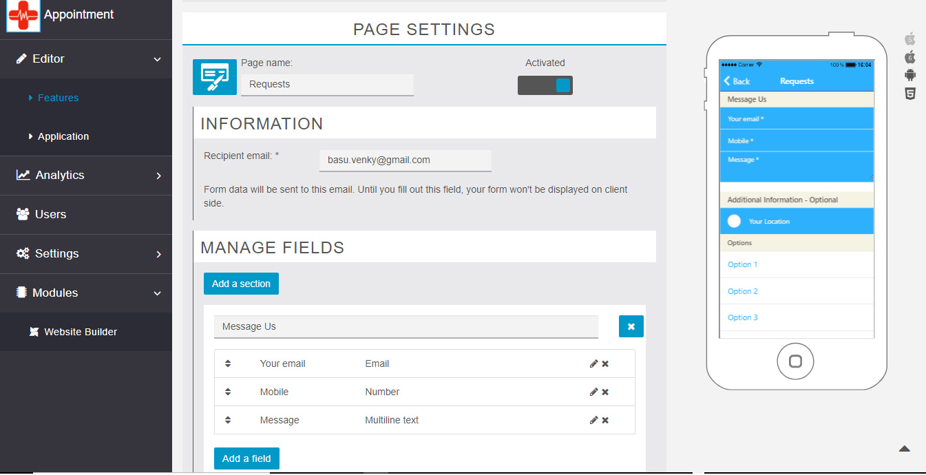 Manage Form Fields